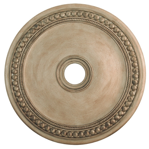Livex Lighting Livex Lighting Wingate Hand Painted Antique Silver Leaf Ceiling Medallion 82076-73