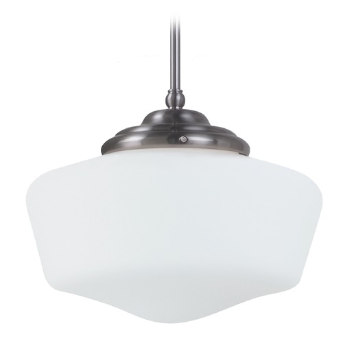 Sea Gull Lighting Sea Gull Lighting Academy Brushed Nickel LED Pendant Light 6543791S-962