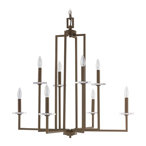 Capital Lighting Capital Lighting Morgan Burnished Bronze Crystal Chandelier 4818BB