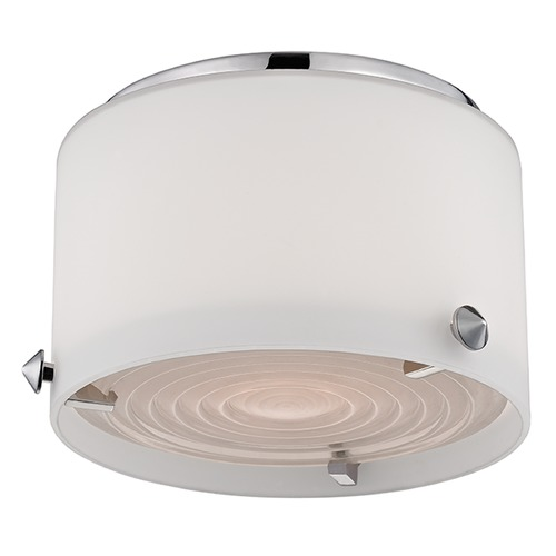 Hudson Valley Lighting Blackwell LED 1 Light Flushmount Light Drum Shade - Polished Nickel 9006-PN