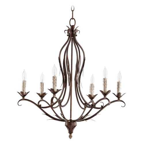 Quorum Lighting Quorum Lighting Flora Vintage Copper Chandelier 6172-6-39