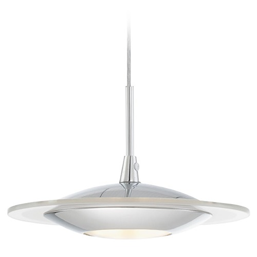 Lite Source Lighting Lite Source Fruma Chrome LED Mini-Pendant Light with Oblong Shade LS-19041