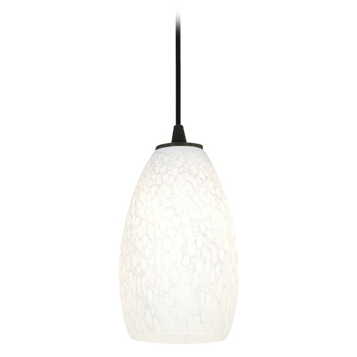 Access Lighting Modern Mini-Pendant Light with White Glass 28012-1C-ORB/WHST