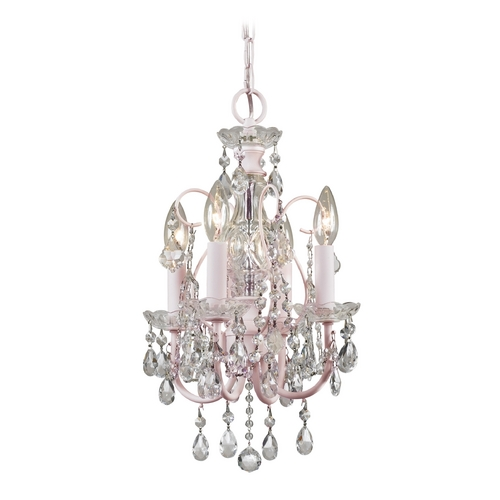 Crystorama Lighting Crystal Mini-Chandelier in Blush Finish 3224-BH-CL-MWP