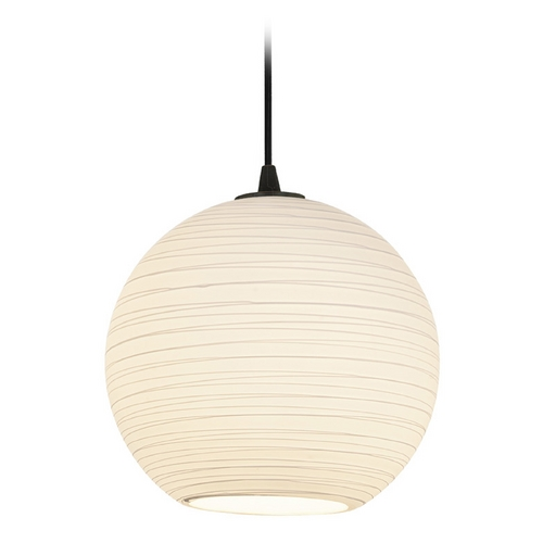 Access Lighting Access Lighting Sydney L Oil Rubbed Bronze Pendant with Bowl / Dome Shade 28088-1C-ORB/WHTLN