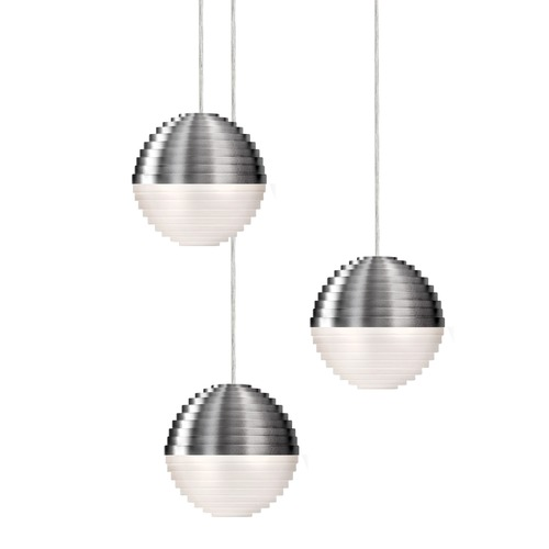 Kuzco Lighting Kuzco Brushed Nickel LED Multi-Light Pendant MP10503-BN
