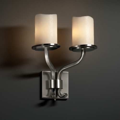 Justice Design Group Justice Design Group Candlearia Collection Sconce CNDL-8782-14-CREM-NCKL