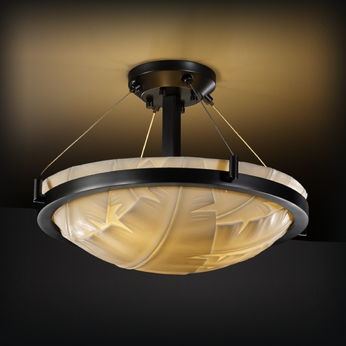 Justice Design Group Justice Design Group Porcelina Collection Semi-Flushmount Light PNA-9681-35-BANL-MBLK