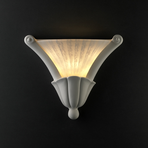 Justice Design Group Sconce Wall Light in Bisque Finish CER-7225-BIS