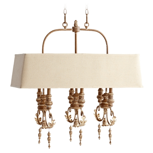 Quorum Lighting Quorum Lighting Salento French Umber Island Light with Rectangle Shade 6506-6-94