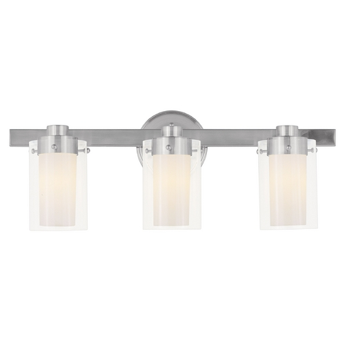 Livex Lighting Livex Lighting Manhattan Brushed Nickel Bathroom Light 1543-91