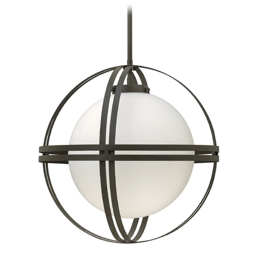 Hinkley Lighting Hinkley Lighting Atrium Bronze Mini-Pendant Light with Globe Shade 3277BZ