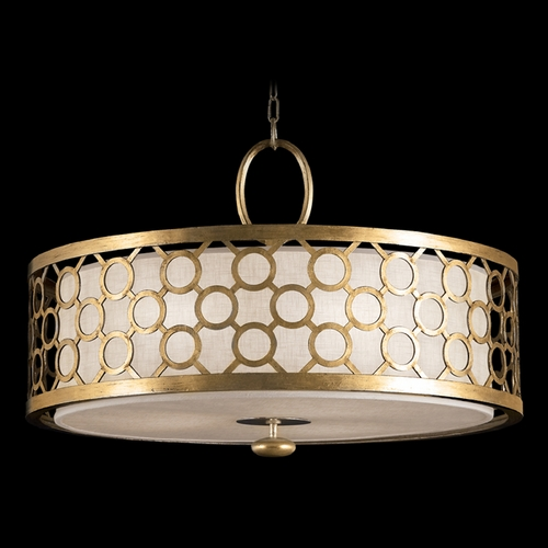Fine Art Lamps Fine Art Lamps Allegretto Gold Burnished Gold Leaf with Subtle Brown Highlights Pendant Light with D 780140-2ST