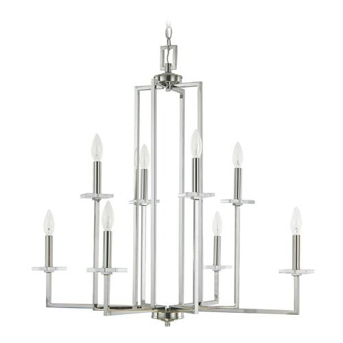 Capital Lighting Capital Lighting Morgan Polished Nickel Crystal Chandelier 4818PN