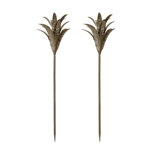 Dimond Home Aged Silver Iron Leaf Stem - Set Of 2 594043/S2