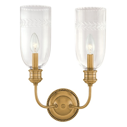 Hudson Valley Lighting Hudson Valley Lighting Lafayette Aged Brass Sconce 292-AGB