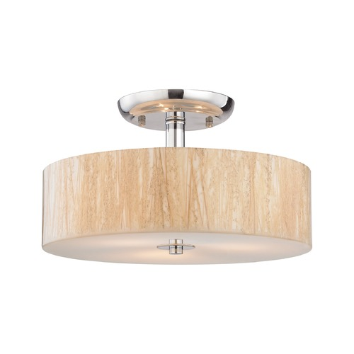 Elk Lighting Elk Lighting Modern Organics Polished Chrome Semi-Flushmount Light 19038/3