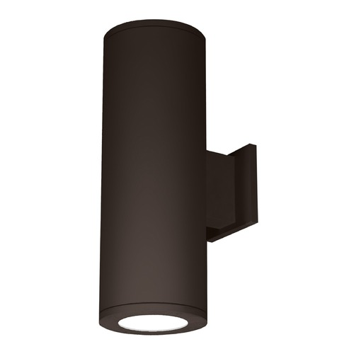 WAC Lighting 6-Inch Bronze LED Tube Architectural Up and Down Wall Light 4000K 5810LM DS-WD06-F40C-BZ