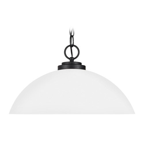 Sea Gull Lighting Sea Gull Lighting Oslo Blacksmith LED Pendant Light with Bowl / Dome Shade 65160EN3-839