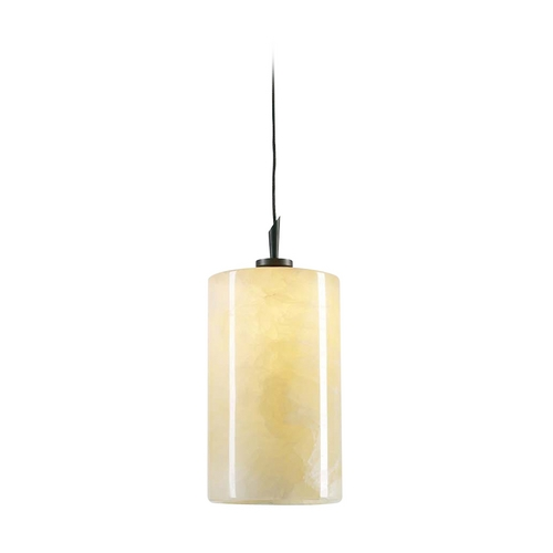PLC Lighting Modern Mini-Pendant Light with Beige / Cream Glass 288 ORB