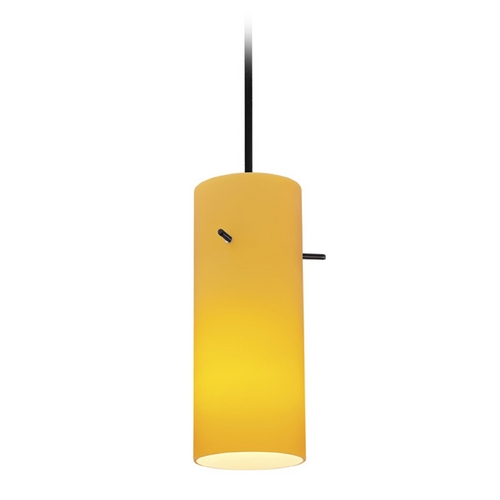 Access Lighting Access Lighting Tali Cylinder Oil Rubbed Bronze Mini-Pendant with Cylindrical Shade 28030-2C-ORB/AMB
