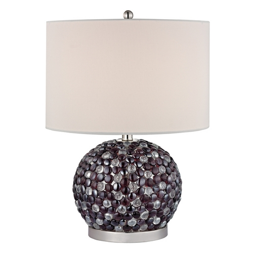 Dimond Lighting Accent Lamp with Beige / Cream Shades in Amethyst Finish D2492