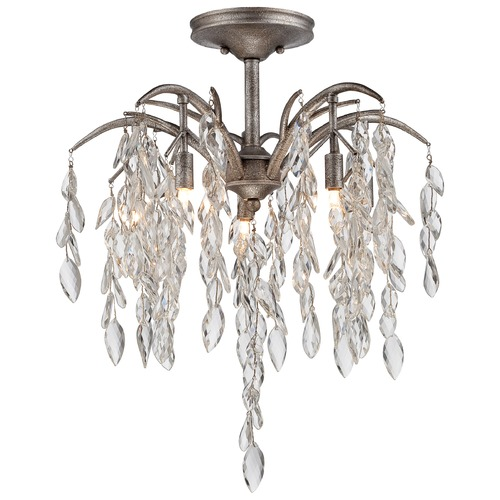 Metropolitan Lighting Metropolitan Bella Flora Silver Mist Semi-Flushmount Light N6865-278