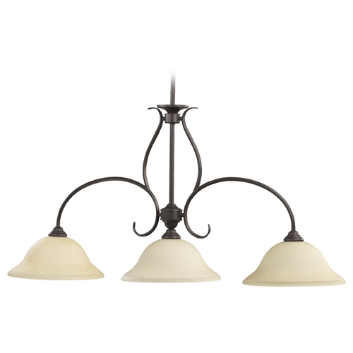 Quorum Lighting Quorum Lighting Spencer Toasted Sienna Island Light 6510-3-44