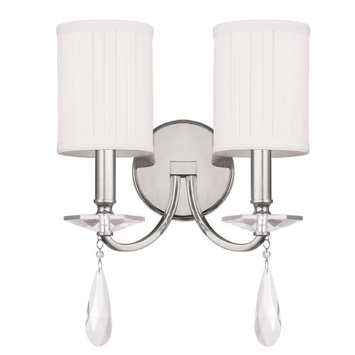 Capital Lighting Capital Lighting Alisa Polished Nickel Sconce 8027PN-573-CR