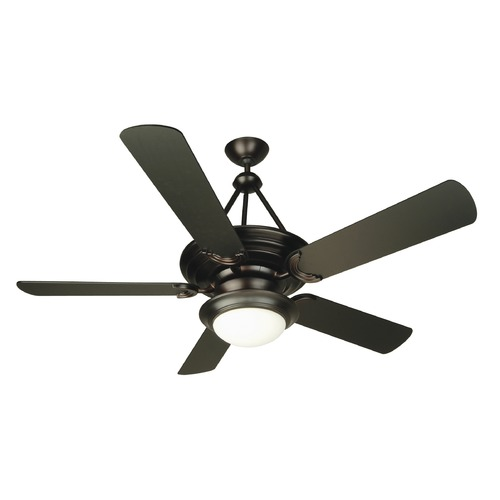 Craftmade Lighting Craftmade Lighting Metro Oiled Bronze Ceiling Fan with Light K10720