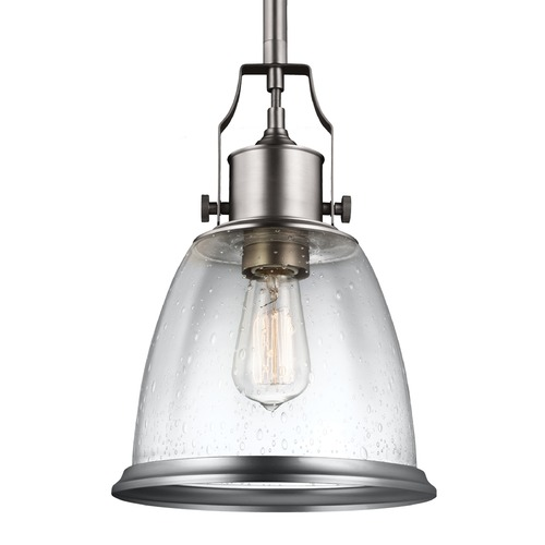 Feiss Lighting Feiss Hobson Satin Nickel Mini-Pendant Light P1355SN