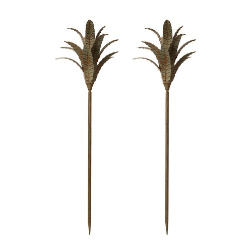 Dimond Home Patina Iron Leaf Stem - Set Of 2 594044/S2