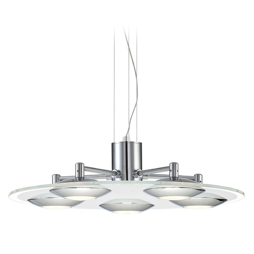 Lite Source Lighting Lite Source Fruma Chrome LED Pendant Light with Oblong Shade LS-19045