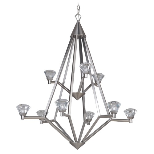 Craftmade Lighting Brushed Polished Nickel LED Chandelier 3000K 12600LM 49729-BNK-LED