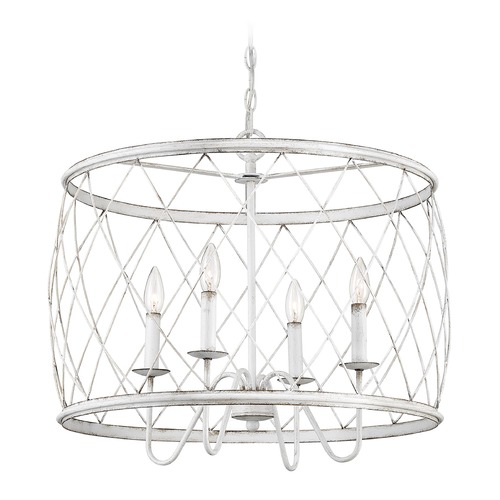 Quoizel Lighting Quoizel Antique White 4-Light Traditional Pendant Light RDY2823AWH