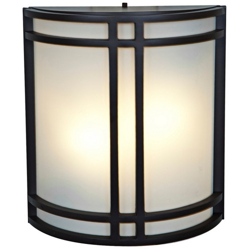 Access Lighting Outdoor Wall Light with White Glass in Bronze Finish 20362-BRZ/OPL