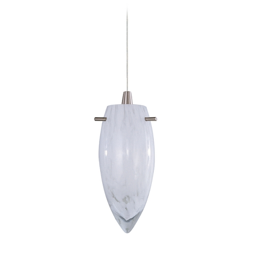 ET2 Lighting Modern Low Voltage Mini-Pendant Light with White Glass E94441-113SN