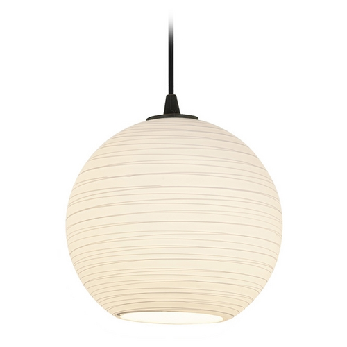 Access Lighting Access Lighting Sydney Japanese Lantern Oil Rubbed Bronze Mini-Pendant 28087-1C-ORB/WHTLN