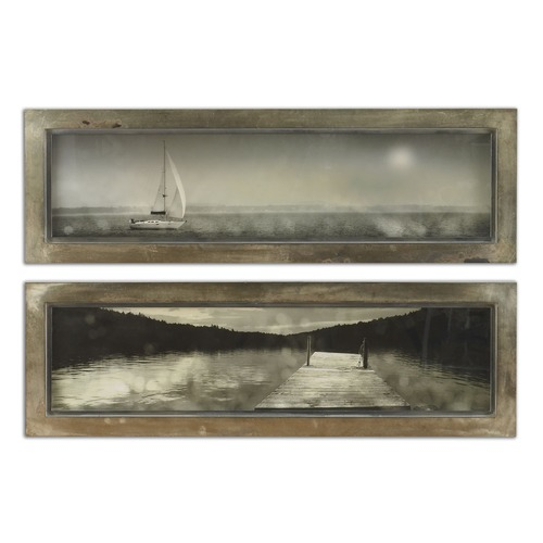 Uttermost Lighting Uttermost Twilight Sail Framed Art Set of 2 35232