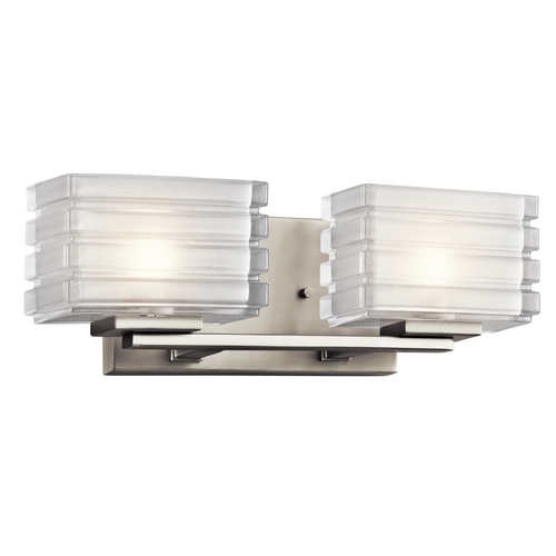 Kichler Lighting Kichler Lighting Bazely Brushed Nickel Bathroom Light 45478NI