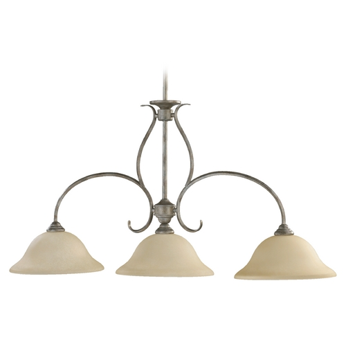 Quorum Lighting Quorum Lighting Spencer Mystic Silver Island Light 6510-3-58