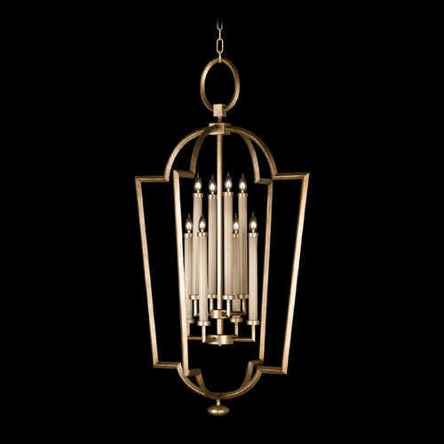 Fine Art Lamps Fine Art Lamps Allegretto Gold Burnished Gold Leaf with Subtle Brown Highlights Pendant Light 780440-2ST