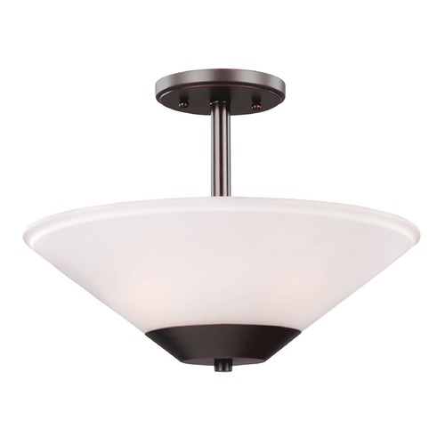 Sea Gull Lighting Sea Gull Lighting Ashburne Burnt Sienna Semi-Flushmount Light 7711202BLE-710
