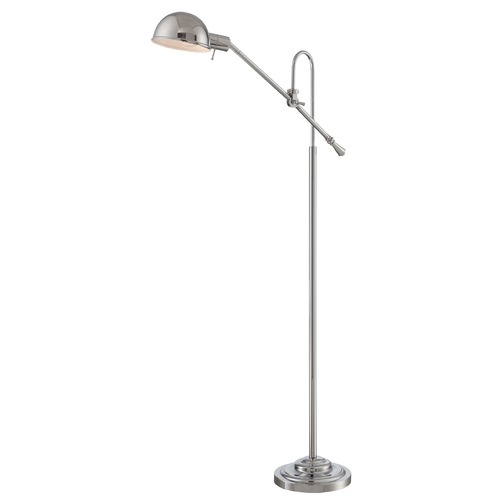 Lite Source Lighting Lite Source Chrome Pharmacy Lamp with Bowl / Dome Shade LS-82775C