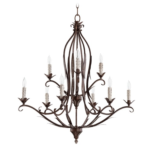 Quorum Lighting Quorum Lighting Flora Vintage Copper Chandelier 6172-9-39