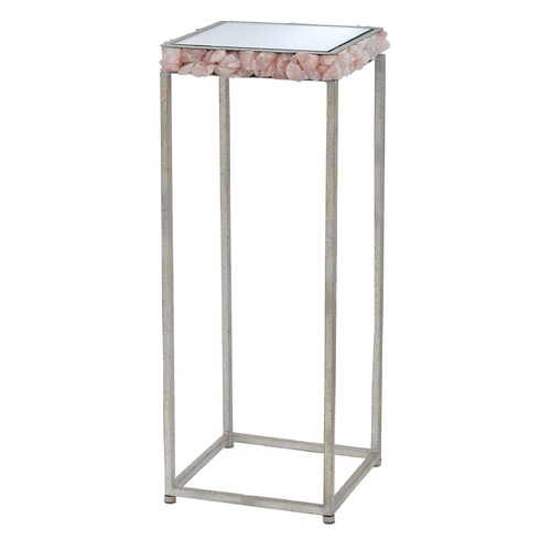Currey and Company Lighting Currey and Company Princess Harlow Silver Leaf / Rose Accent Table 4000-0008