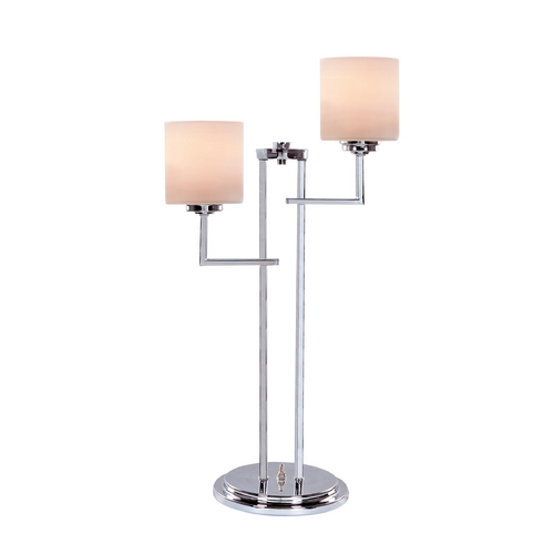Lite Source Lighting Lite Source Lighting Shiloah Chrome Table Lamp with Cylindrical Shade LS-22196
