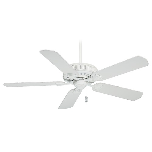 Casablanca Fan Co Casablanca Fan Ainsworth Cottage White Ceiling Fan Without Light 54000