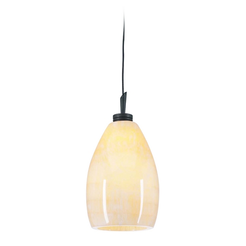 PLC Lighting Modern Mini-Pendant Light with Brown Glass 286 ORB