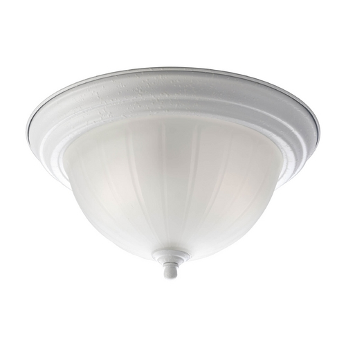 Progress Lighting Flushmount Light with White Glass in White Finish P3817-30EB